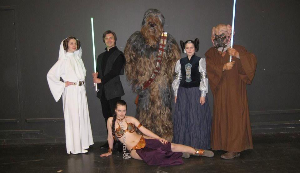 Nordic Base costumes, Leia, Luke Skywalker, Chewbacca, Padme